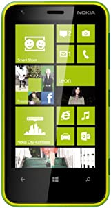 Nokia Lumia 620 Smartphone (9,7 cm (3,8 Zoll) Touchscreen, Snapdragon S4, Dual-Core, 1GHz, 512MB RAM, 5 Megapixel Kamera, Win 8) glänzend-grün