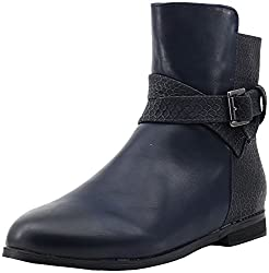 Shuberry Womens Navy Artificial Leather Boots - 40 EU