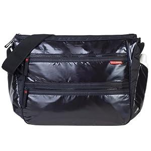 element diaper bag shiny black diaper tote bags baby. Black Bedroom Furniture Sets. Home Design Ideas