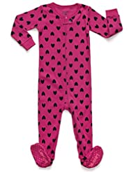 Leveret Hearts Footed Pajama 12-18 Mo…