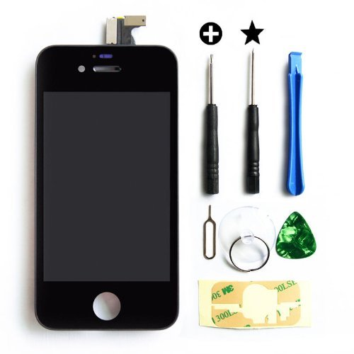 Ztr Generic Replacement Lcd Touch Screen Digitizer Assembly For At&T Gsm Iphone 4 Black