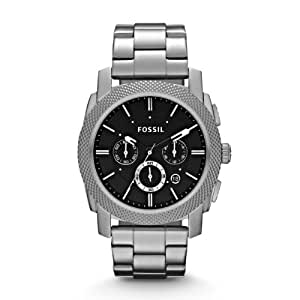 Fossil Herren-Armbanduhr XL Analog Quarz Edelstahl FS4776