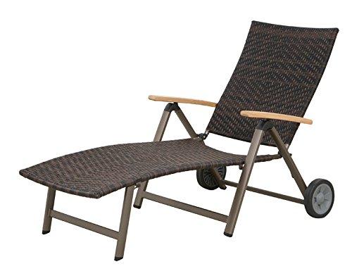 Siena Garden 120179 Rollliege Aros Aluminium-Gestell bronze Gardino®-Geflecht maron Armlehnen Teak FSC® 100% günstig bestellen