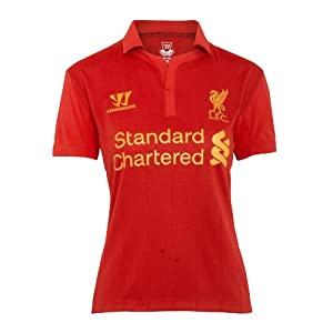 Warrior Womens Liverpool Football Club Home Short Sleeve - High Risk Red Size 12 by Warrior