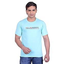 Martin Smith Turq Round Neck T- Shirt For Men