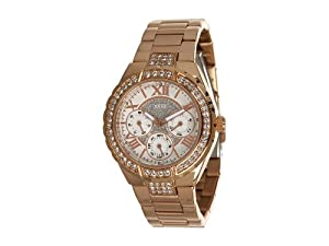 GUESS Women's U0111L3 Rose Gold-Tone Sparkling Watch