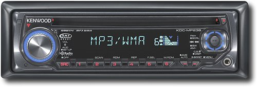 Kenwood Kdc-Mp238 Wma/Mp3 Cd Receiver With Front-Panel Aux Input And External Media Control