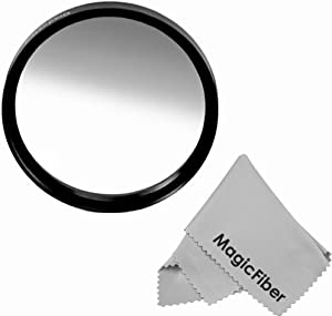 67MM Goja Graduated Gray Lens Color Filter (Neutral Density) + Premium MagicFiber Microfiber Cleaning Cloth