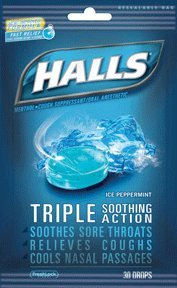 Halls Ice Peppermint, 12-Count Packages