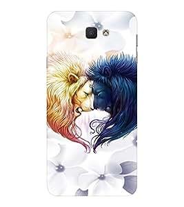 EPICCASE Lions head-to-head Mobile Back Case Cover For Samsung Galaxy J7 Prime (Designer Case)