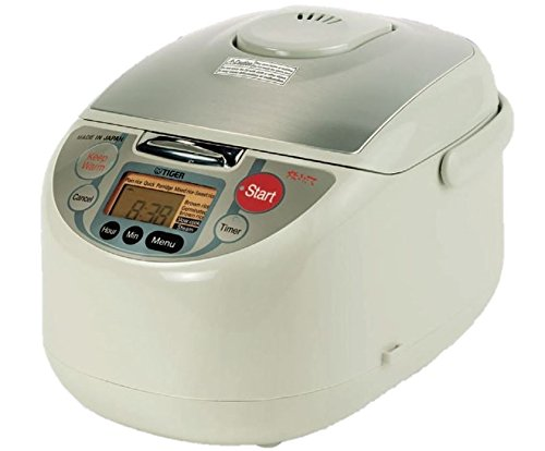 Tiger JAH-T18U-TM 10-Cup (Uncooked) Micom Rice Cooker and Warmer with Steam Basket, White (Tiger Rice Cooker Jax compare prices)