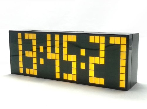 Ecvision Large Big Number Jumbo Led Snooze Wall Desk Alarm Clock Count Down Timer With Calendar -Yellow Light
