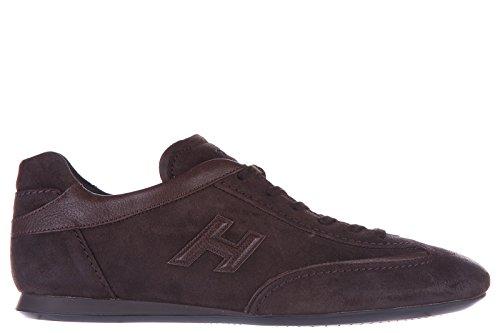 hogan-zapatos-zapatillas-de-deporte-hombres-en-piel-nuevo-olympia-marron-eu-41-hxm0570i9701ub485b