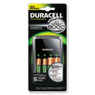Duracell - ION SPEED 8000 Professional Charger, Includes 2 AA and 2 AAA NiMH Batteries (Duracell Ion Speed 8000 compare prices)
