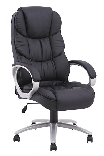 BestOffice Ergonomic PU Leather High Back Executive Office Chair, Black