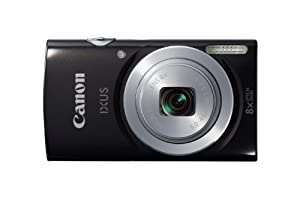 Canon IXUS 145 HS Point and Shoot Camera - Black (16 MP, 8x Zoom, 720p HD, 28 mm Wide Lens) 2.7-Inch LCD
