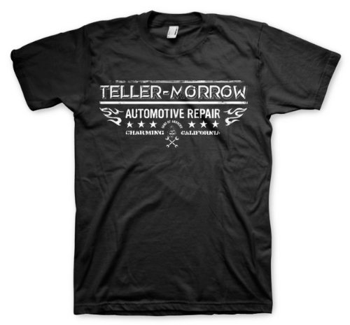 Teller-morrow Repair Sons of Anarchy T-shirt, Black, XXX-Large