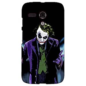 Jugaaduu Villain Joker Back Cover Case For Moto G (1st Gen)