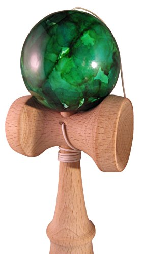 Green Marble Toy : Kiwi green marble ball kendama traditional japanese toy