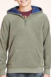 Half Zip Hooded Fleece Top [T87-4808J-S]