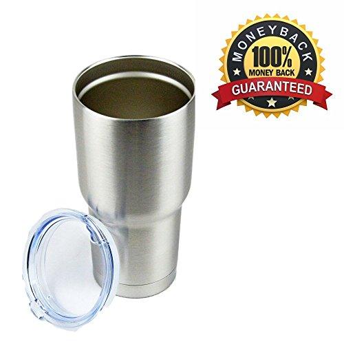 CELSIUS - Premium Grade 18/8 Stainless Steel Tumbler, Double Wall Vacuum Insulated Travel Cup With Shatterproof Sip Lid - Best Traveling Mug for Camping - 30 oz - 100% Satisfaction Guarantee! (Up24 Warranty compare prices)