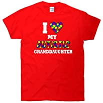 I Love My Autistic Granddaughter Autism T-Shirt