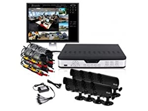 Zmodo PKD-DK0865-500GB H.264 Internet & 3G Phone Accessible 8-Channel DVR with 8 Night Vision Cameras and 500 GB HD