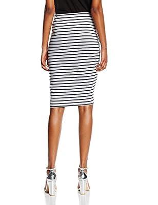 New Look Women's Stripe Wrap Skirt