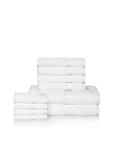 Chortex of England Rhapsody Royale 10-Piece Bath Towel Set, White