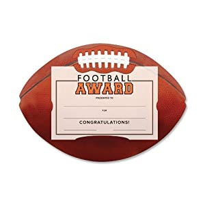 Southworth Football Athletic Award Kit, Certificates with Embossed Holders, 10 count (MSK-1)