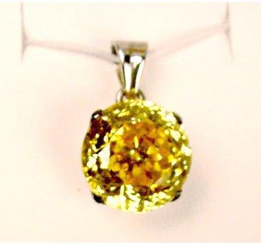 Tachyonized Cubic Zirconia Mini Pendant Yellow, Adv Tachyon Tech