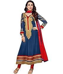 Shelina exclusive women Blue pure georgette salwar suit