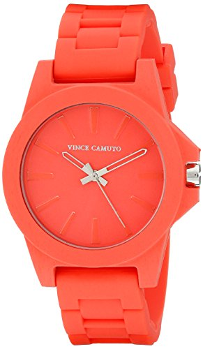 Vince Camuto para mujer reloj infantil de cuarzo con rojo esfera analógica y rojo correa de silicona VC-5247COCO