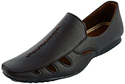 Owl Shoes Mens Brown Synthetic Loafers,6 UK