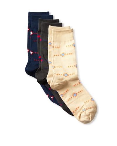 Richer Poorer Men's Native Socks (3 Pair)  [Navy/Tan/Dark Grey]