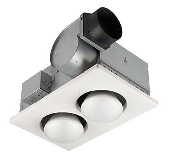 Broan 164 2 Bulb Ventilation Heater Bath Fan With Lights