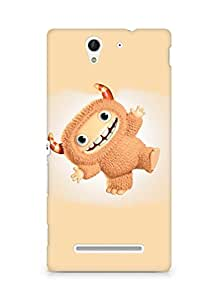 Amez designer printed 3d premium high quality back case cover for Sony Xperia C3 D2502 (Funny cute Monster)