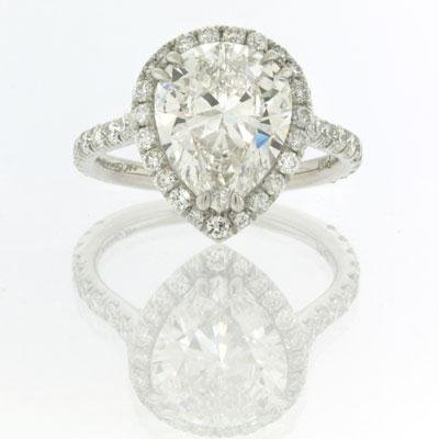 4.37ct Pear Shape Diamond Engagement Anniversary Ring