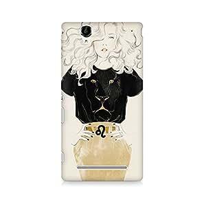 Mobicture Graphic Premium Designer Mobile Back Case Cover For Sony Xperia T2