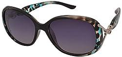 AKS Plastic Oval Sunglasses (Green)(Aks96)