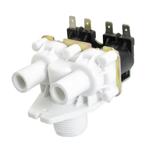 Water & Wood AC 220-240V Washer Washing Machine Water Double Inlet Solenoid Valve