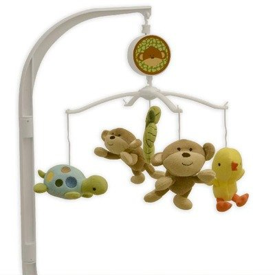 Triboro 21841L Just Born Musical Mobile - Monkey Business - 1