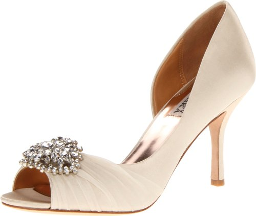 Badgley Mischka Women's Pearson D Orsay Pump,Vanilla Satin,10 M US