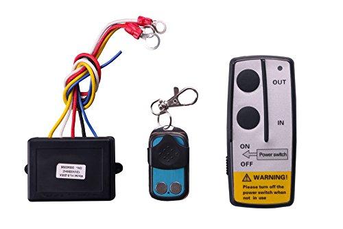 Wireless-Elektrische-Seilwinde-Motorwinde-Funkfernbedienung-Controller-Torffner-Fernsteuerung-Set-fr-Winde-Kipper-LKW-Jeep-ATV-Boot