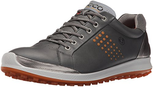 ECCO Men's Biom Hybrid 2 Golf Shoe, Dark Shadow/Orange, 47 EU/13-13.5 M US (Ecco Golf Shoes 47 compare prices)