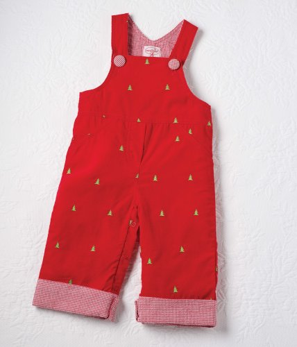 Mud Pie Little Boys Overalls For Christmas (0-6 Months) front-542859