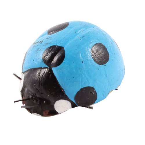 Blau Schwarz-Marienkäfer-Shaped Kühlschrank Kühlschrank Magnetic Aufkleber Ornament