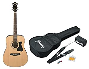 Ibanez V50NJP NT Acoustic Guitar Pre Pack, Dreadnought, Natural High Gloss available at Amazon for Rs.9000