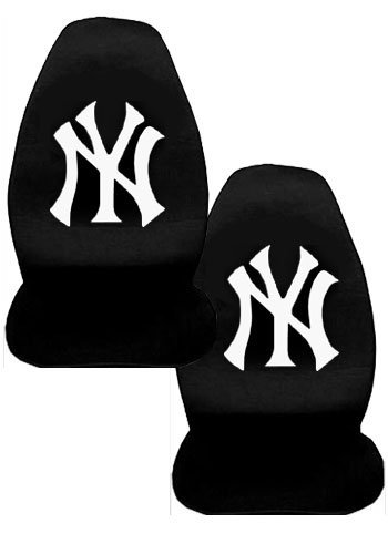 A Set of 2 MLB Major League Baseball Licensed Universal-Fit Front Bucket Seat Cover - New York Yankees