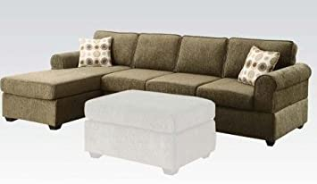 Fabric Sectional Sofa Reversible Chaise by Acme Furniture